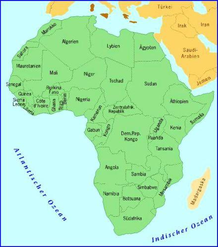 Afrika Karte Deutsch.Karte Afrika Ganz